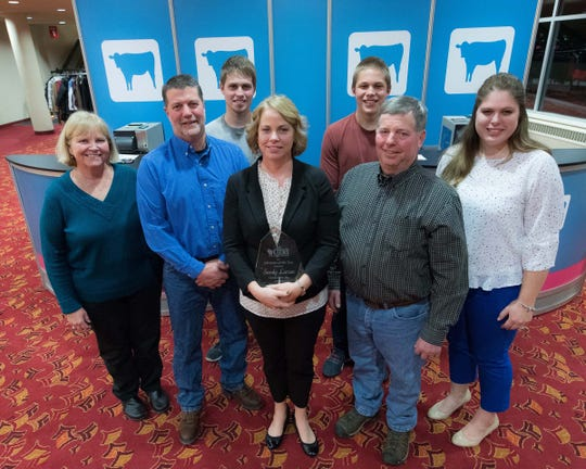 The Larson Acres team came out to celebrate during Dairy Strong in 2018.