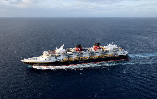 The Disney Wonder, one of the Disney Cruise Line cruise ships.