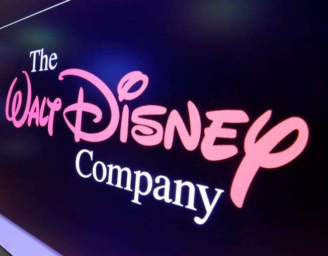 The Walt Disney Co. logo appears on a screen above the floor of the New York Stock Exchange on  Aug. 7, 2017.