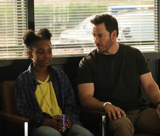 "Saniyya Sidney and Mark-Paul Gosselaar in ""The Passage."""