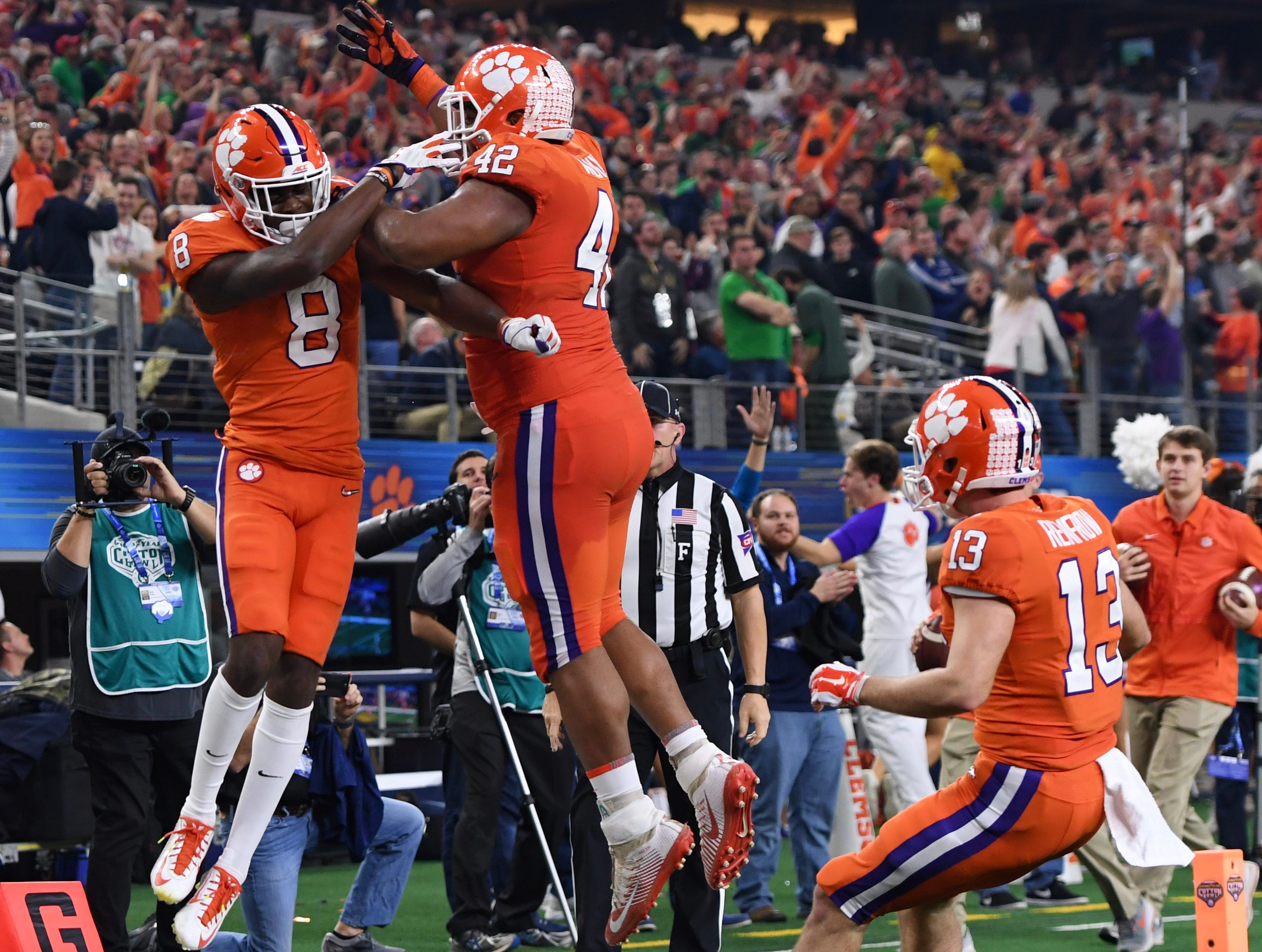 Clemson receiver Justyn Ross scores his second touchdown of the Cotton Bowl in the second quarter.