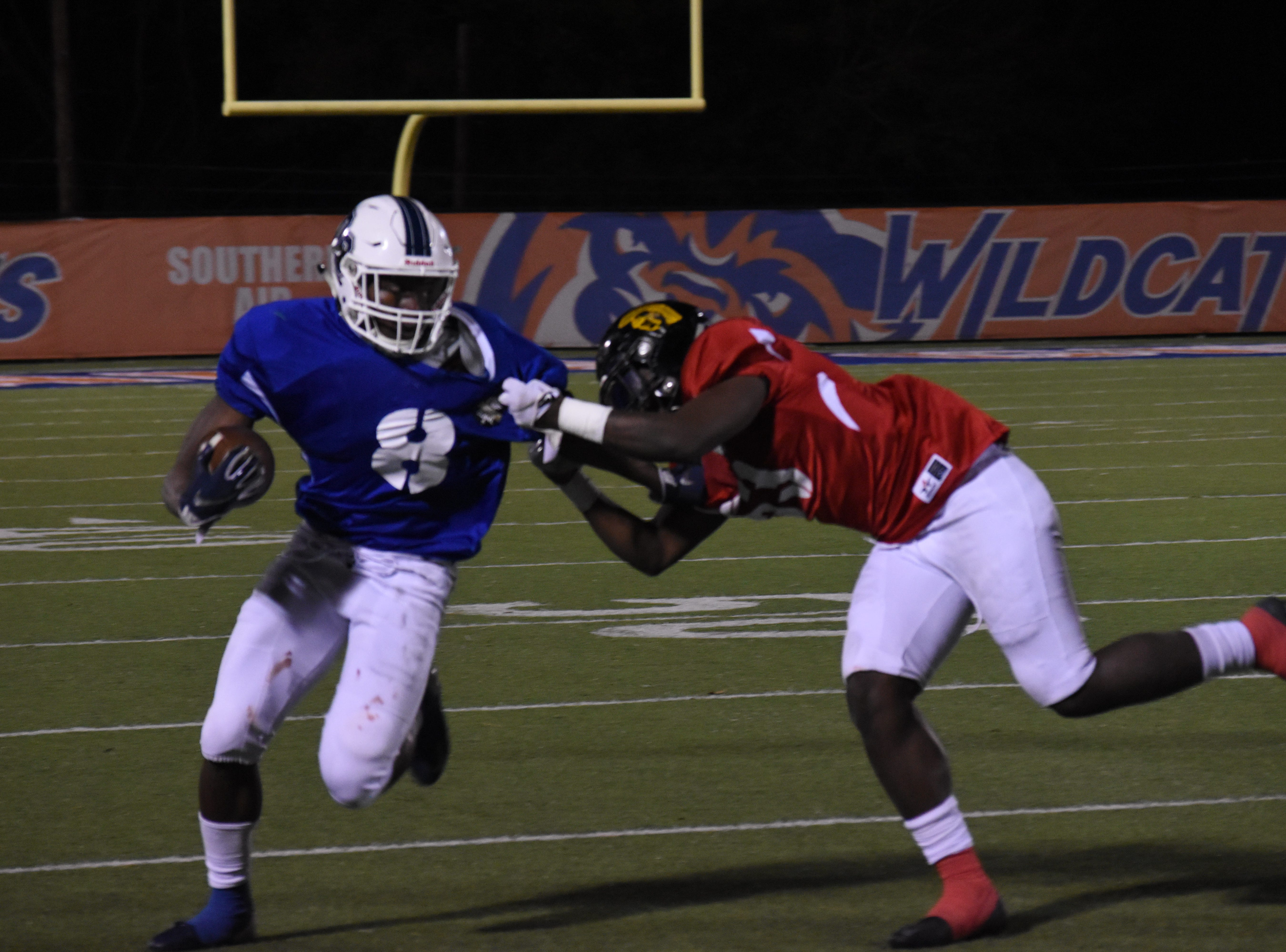 The Inaugural Louisiana Gridiron Football Bowl Game was held at Wildcat Stadium on the Louisiana College in Pineville Friday, Dec. 28, 2018. The game featured high school players from around the state including those from Alexandria Senior High School, Pineville High School, Buckeye High School, Oakdale High School, Jena High School, Vidalia High School, Leesville High School, Oberlin High School, Many High School, Natchitoches Central High School and Ferriday High School. Dennis Dunn, Pineville High School head football coach, was one of the head coaches. Among local players were Ben West and Jacob Sylvia of Pineville High School; Brandon Quinney and Cayden Reynolds of Alexandria Senior High School; and Cade Foster of Buckeye High School.Participation in the game was by invitation only.