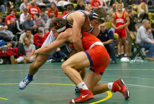 Wall's Robert Kanniard rolled to the 160-pound championship at the Mustang Classic Friday at Brick Memorial.
