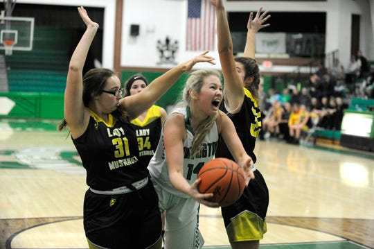 Lynchburg Clay defeated Huntington girls basketball 68-37 on Saturday at Huntington High School.