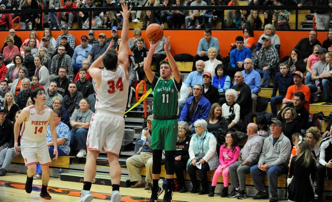 Western High School's boys basketball team, a three seed in a Division III Southeast District bracket, won their sectional game 44-31 on Wednesday over 14-seeded Northwest.