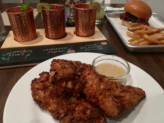 Cornflake chicken tenders are $9.95 at Teddy Maroon's.