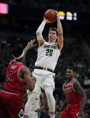 michigan state basketball s defense stops northern illinois
