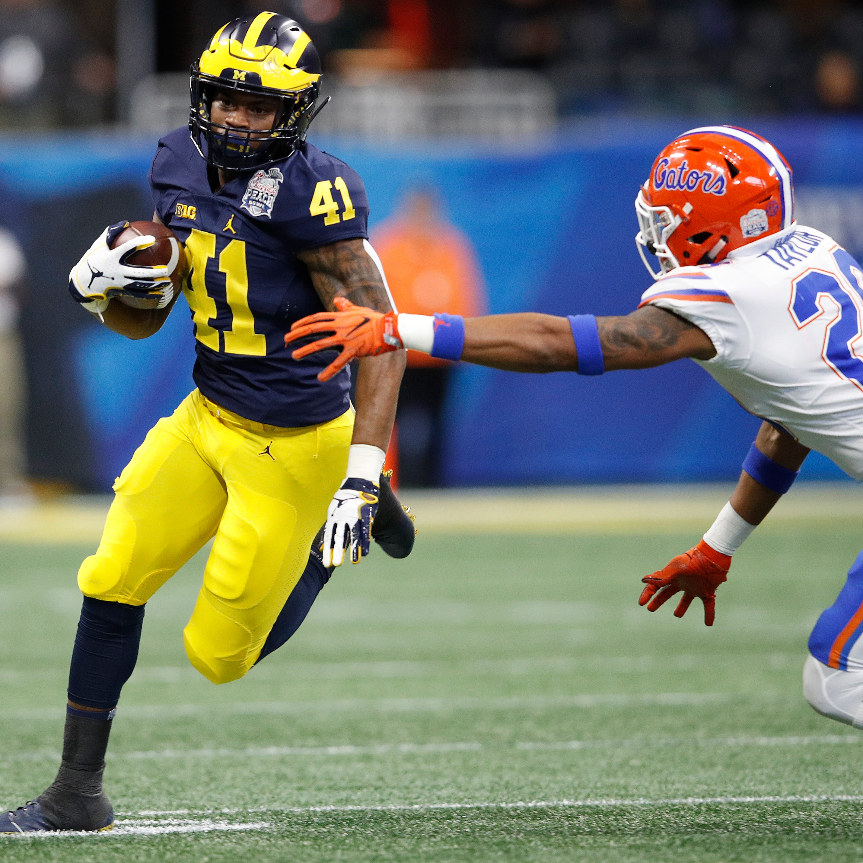 Michigan football's Jim Harbaugh: Christian Turner 'a rising player'
