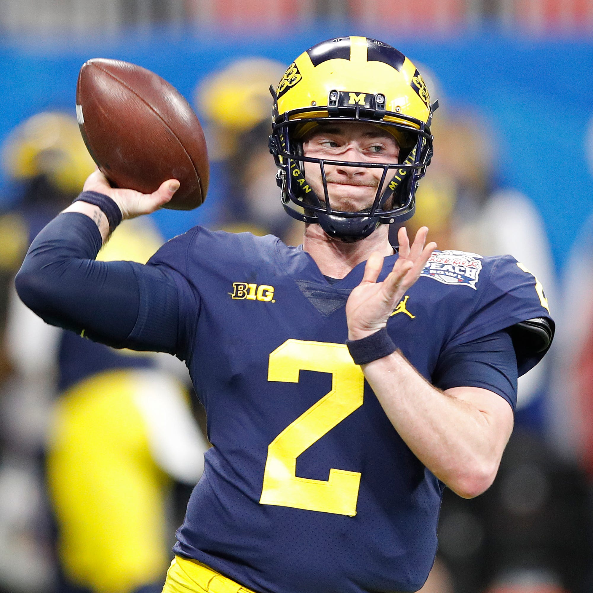 Michigan football's Shea Patterson 'acing' new offense under Josh Gattis