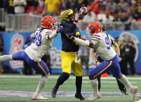 Ncaa Football Peach Bowl Florida Vs Michigan