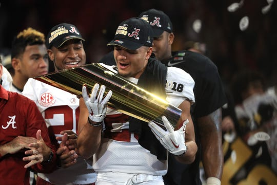 Alabama has won two national titles since the College Football Playoff system was put in place in 2014.