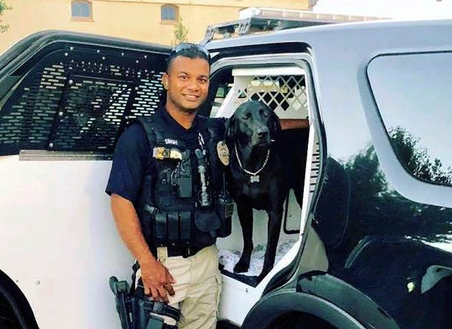 This undated file photo provided by the Newman Police Department shows officer Ronil Singh who was killed on duty conducting a traffic stop early Wednesday, Dec. 26, 2018, in the town of Newman, Calif.
