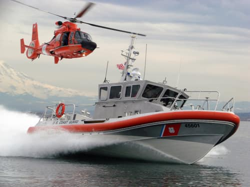 The Coast Guard rescued three adults and one child from a small island south of Grosse Ile Township on Friday night.