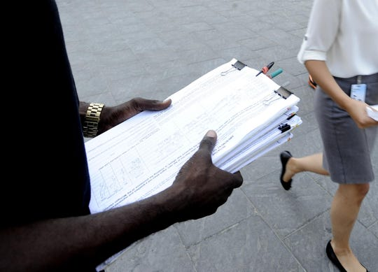 Two ballot drives have been suspended amid disruptions from the coronavirus pandemic.