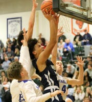 Archbishop Hoban was a 51-36 winner over Horseheads in a National Division quarterfinal Dec. 28, 2018 at the Josh Palmer Fund Elmira Holiday Inn Classic at Elmira High School.