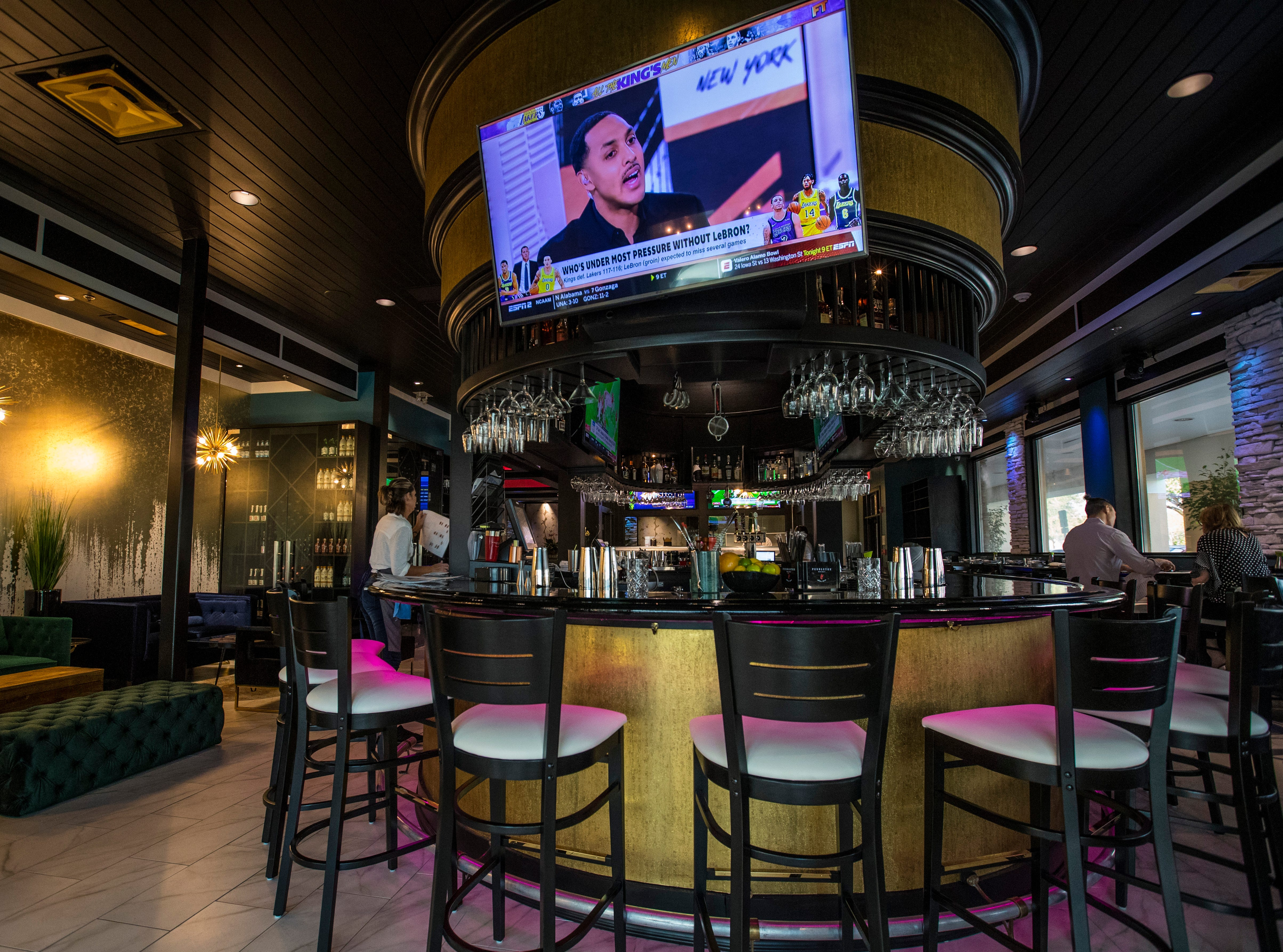 The bar. The lounge is on the left. Ember Korean Steakhouse, in south Fort Myers, opened in mid-December in the former Stonewood Grill space on College Parkway. The restaurant offers Korean barbecue along with a modern, Asian-American gastropub menu. It also features a sushi bar and craft cocktails. Ember completed a stunning redesign of the old Stonewood space.
