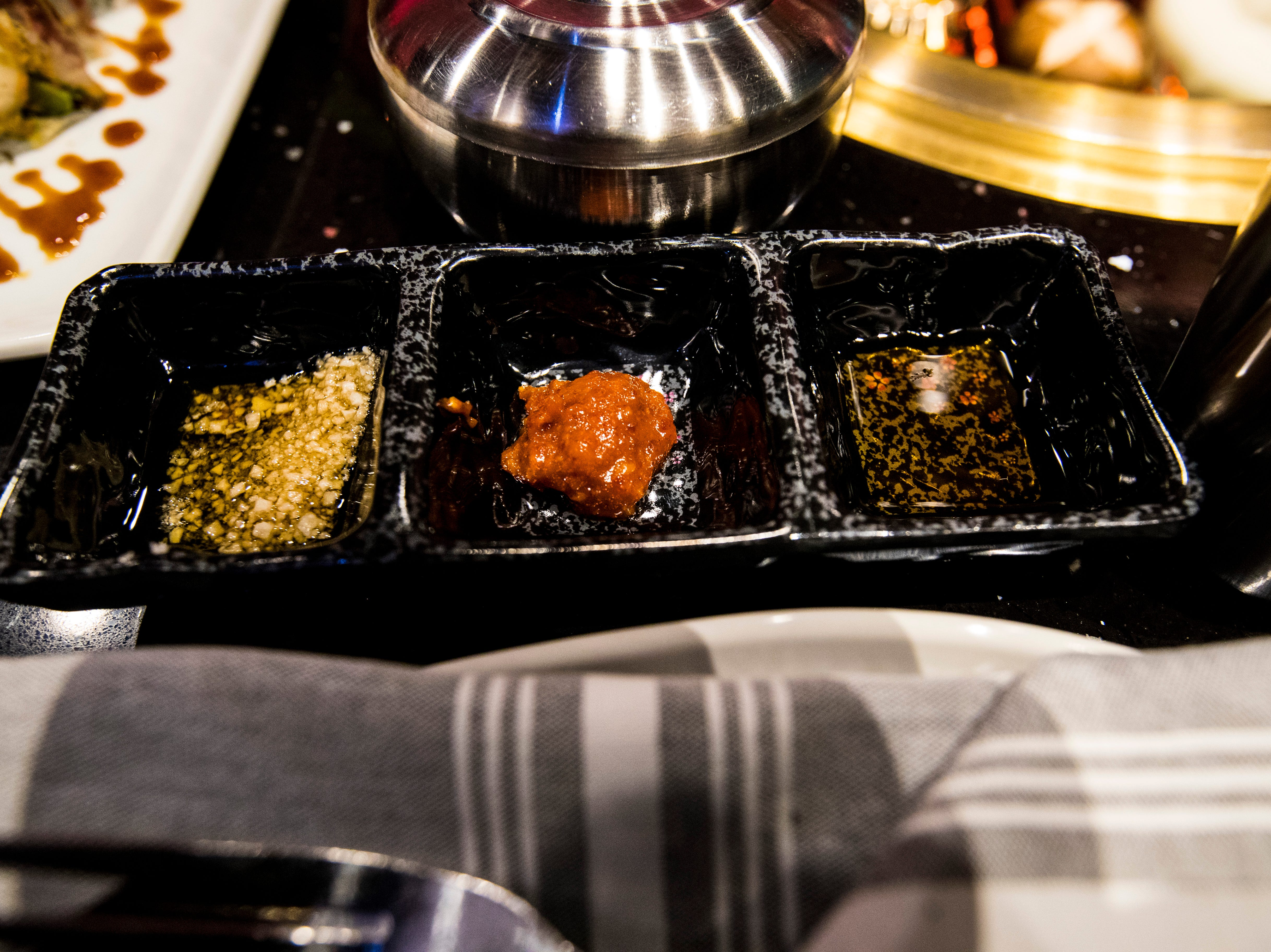 The Korean BBQ comes with three dipping sauces. Ember Korean Steakhouse, in south Fort Myers, opened in mid-December in the former Stonewood Grill space on College Parkway. The restaurant offers Korean barbecue along with a modern, Asian-American gastropub menu. It also features a sushi bar and craft cocktails. Ember completed a stunning redesign of the old Stonewood space.
