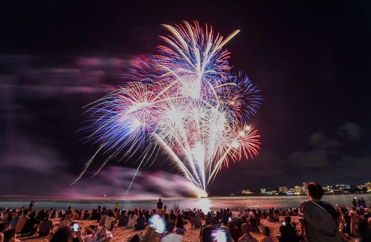 Enjoy a 10-minute fireworks display on 4th of July at the Freedom Rocks festival.