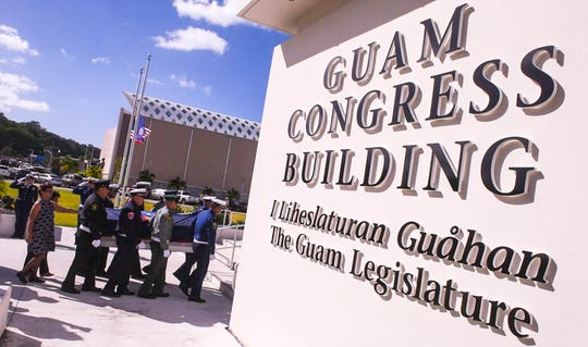 Members of the 35th Guam Legislature introduced a measure to allow for the enforcement of Gov. Lourdes A. Leon Guerrero's executive order.