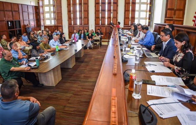 Senators listen to testimony in this file photo.