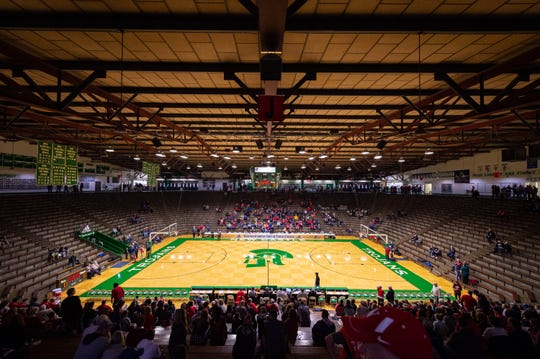 New Castle High School's fieldhouse, according to at least one source, is no longer Indiana's largest high school gymnasium.