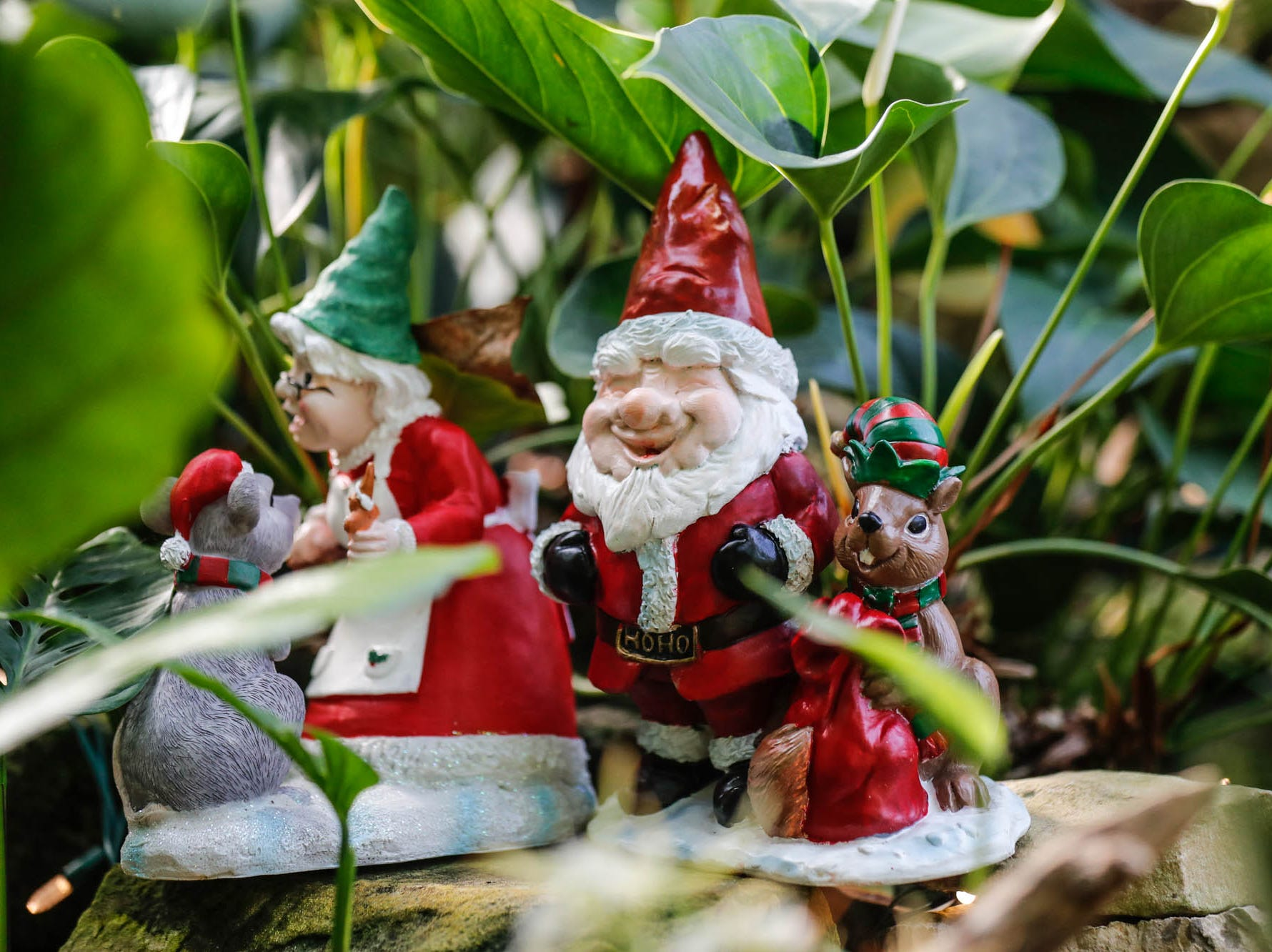 Christmas gnomes decorate the Garfield Park Conservatory on Saturday, Dec. 29, 2018.