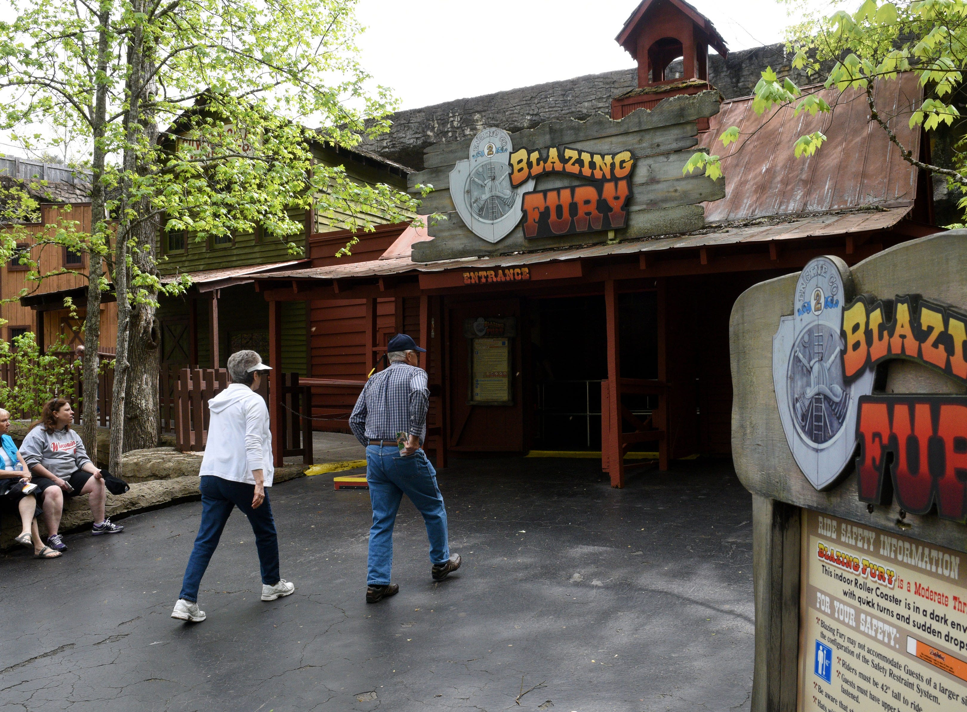 The Blazing Fury ride was built in-house by Silver Dollar City Tennessee in 1978, prior to the park becoming Dollywood. It is still a favorite for visitors to Dollywood during their 30th anniversary Wednesday, Apr. 22, 2015.