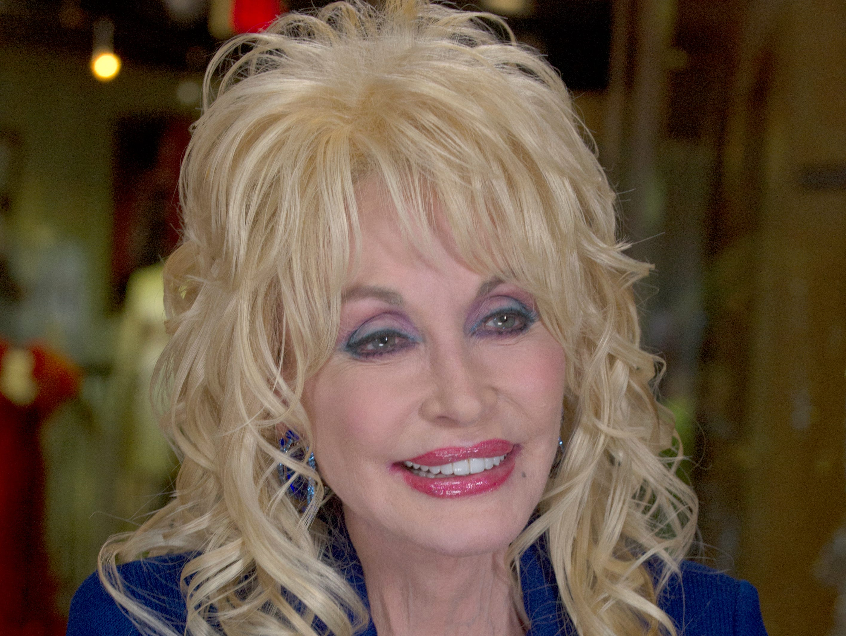 Dolly Parton during an interview at Dollywood Friday, Mar. 21, 2014 for the new Firechaser ride.