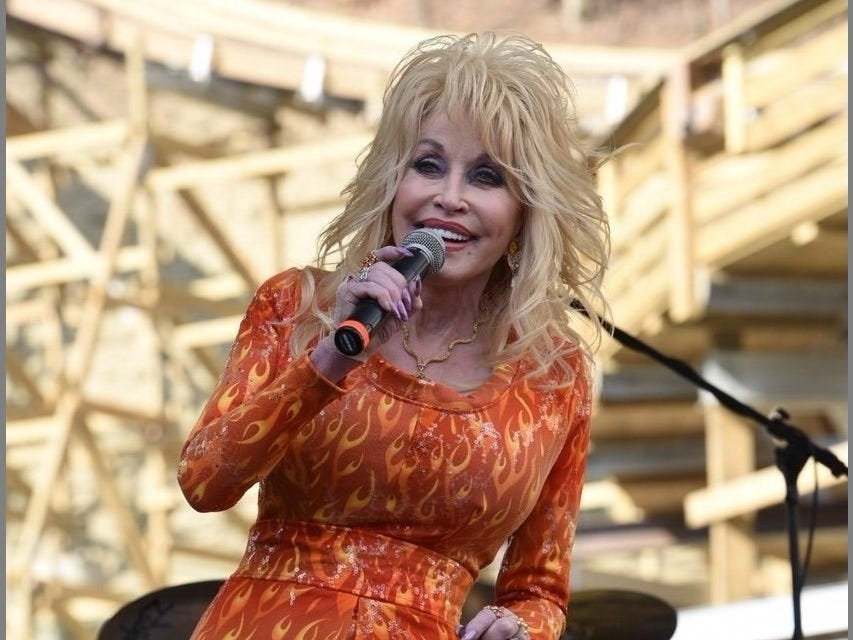 Dolly Parton porforms at Dollywood Thursday, March 24, 2016, in Pigeon Forge.