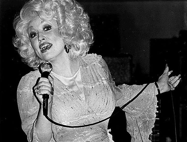 Dolly Parton on stage at Lakeland Civic Center in Lakeland, FL May 21, 1978.