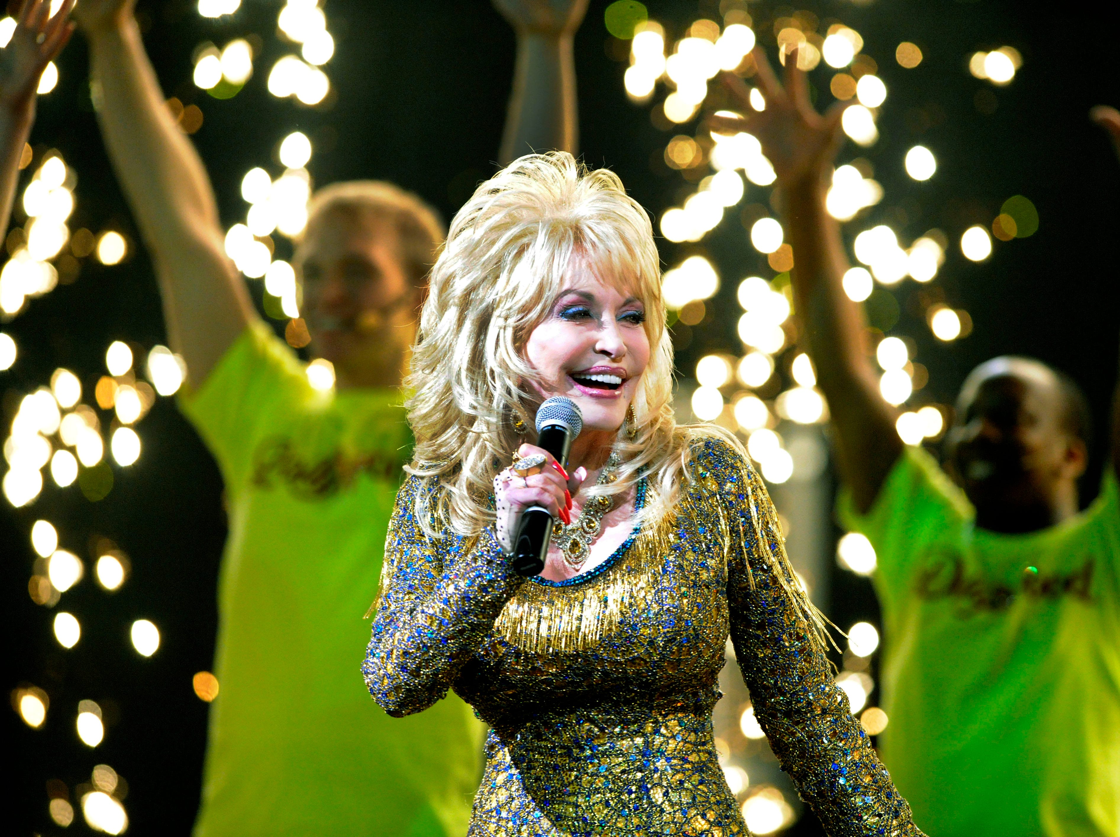 Dolly Parton during her 2013 season preview at Dollywood Friday, Mar. 22, 2013.