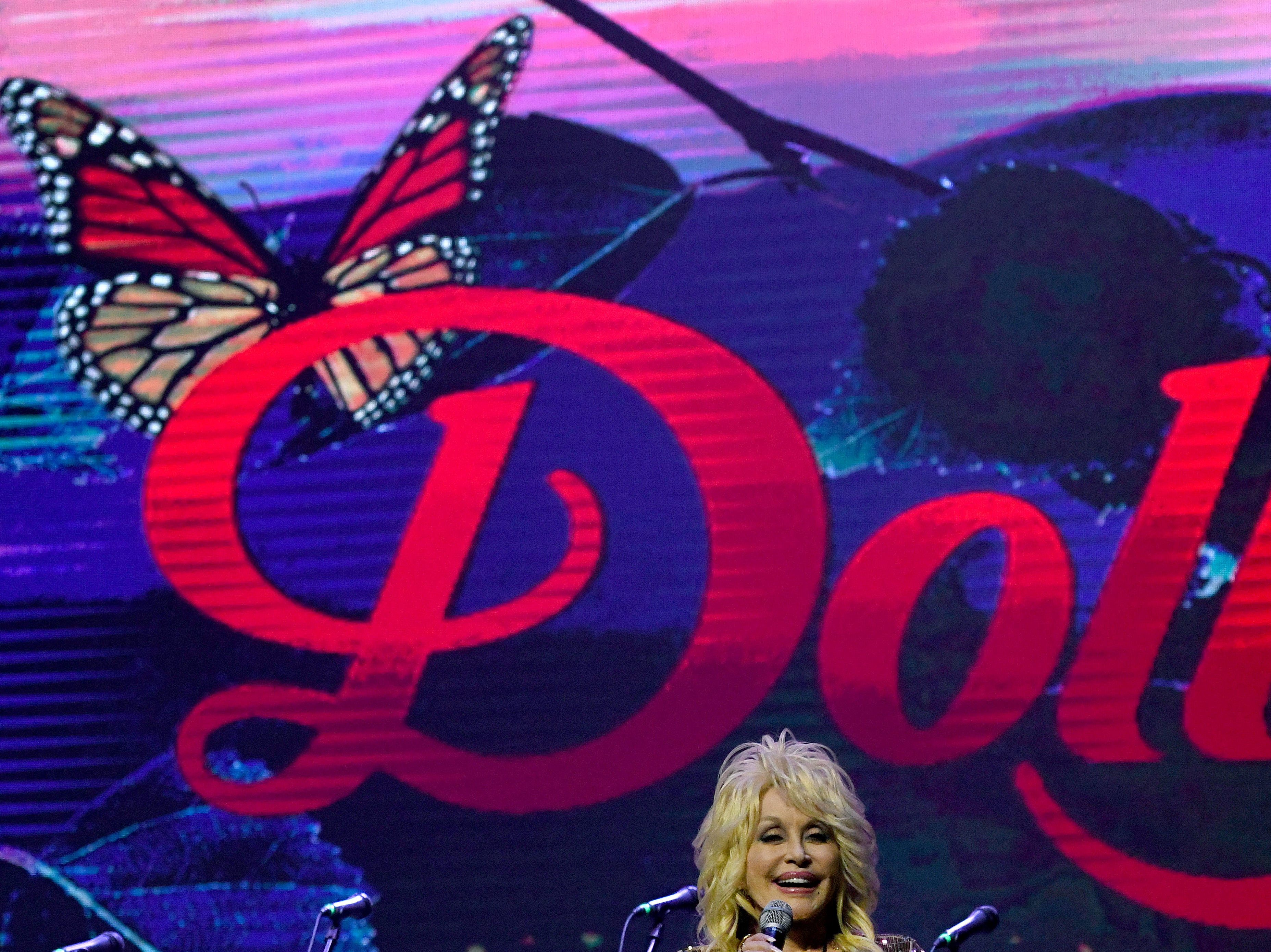 "Dolly Parton helped launch Dollywood's ""Season of Showstoppers"" with a special preview for media and season passholders  Friday, Mar. 16, 2018."