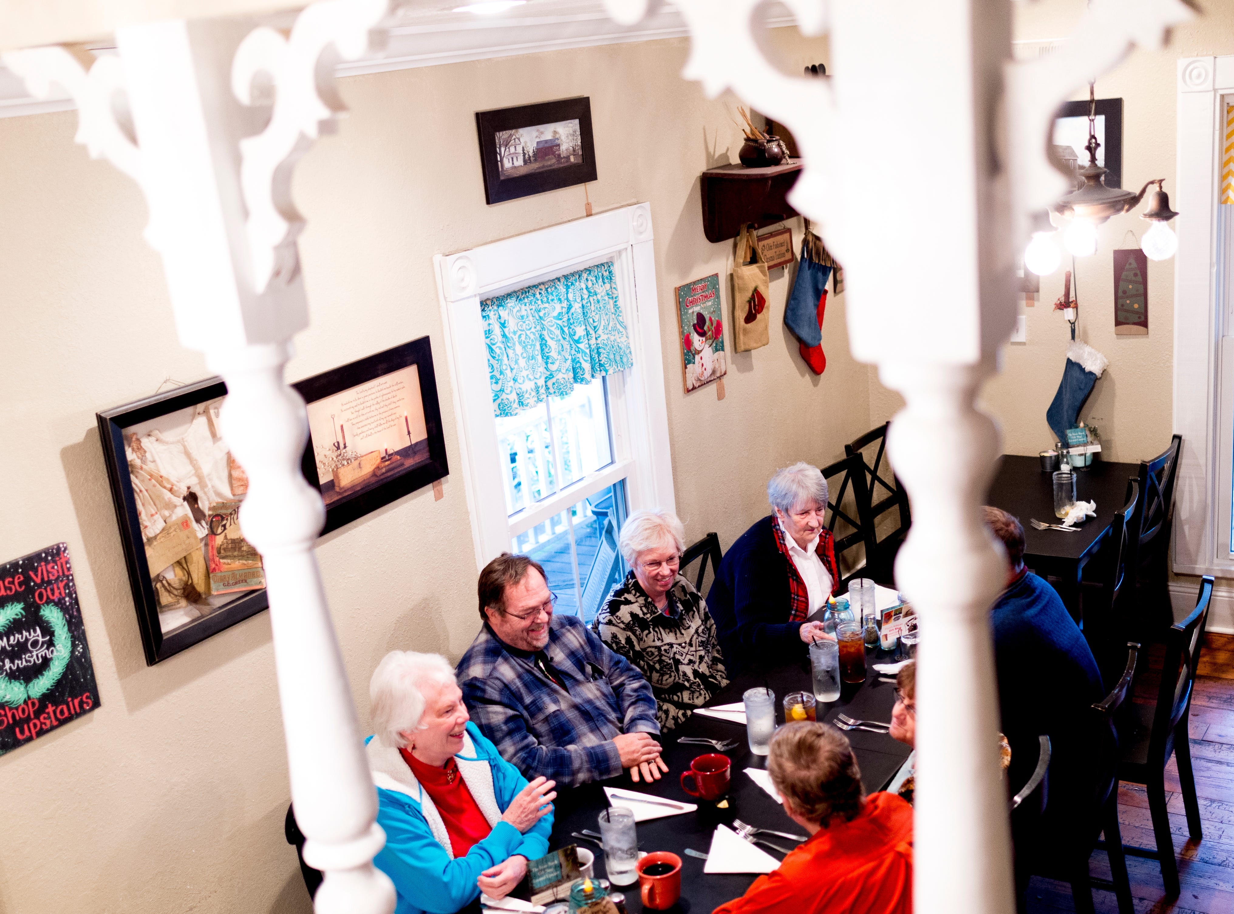 Patrons dine in the dining room at The Front Porch Restaurant in Powell, Tennessee on Saturday, December 29, 2018. For five years, owner Bart Elkins has worked to revive that experience of the front porch being used as the focus for family and friends.