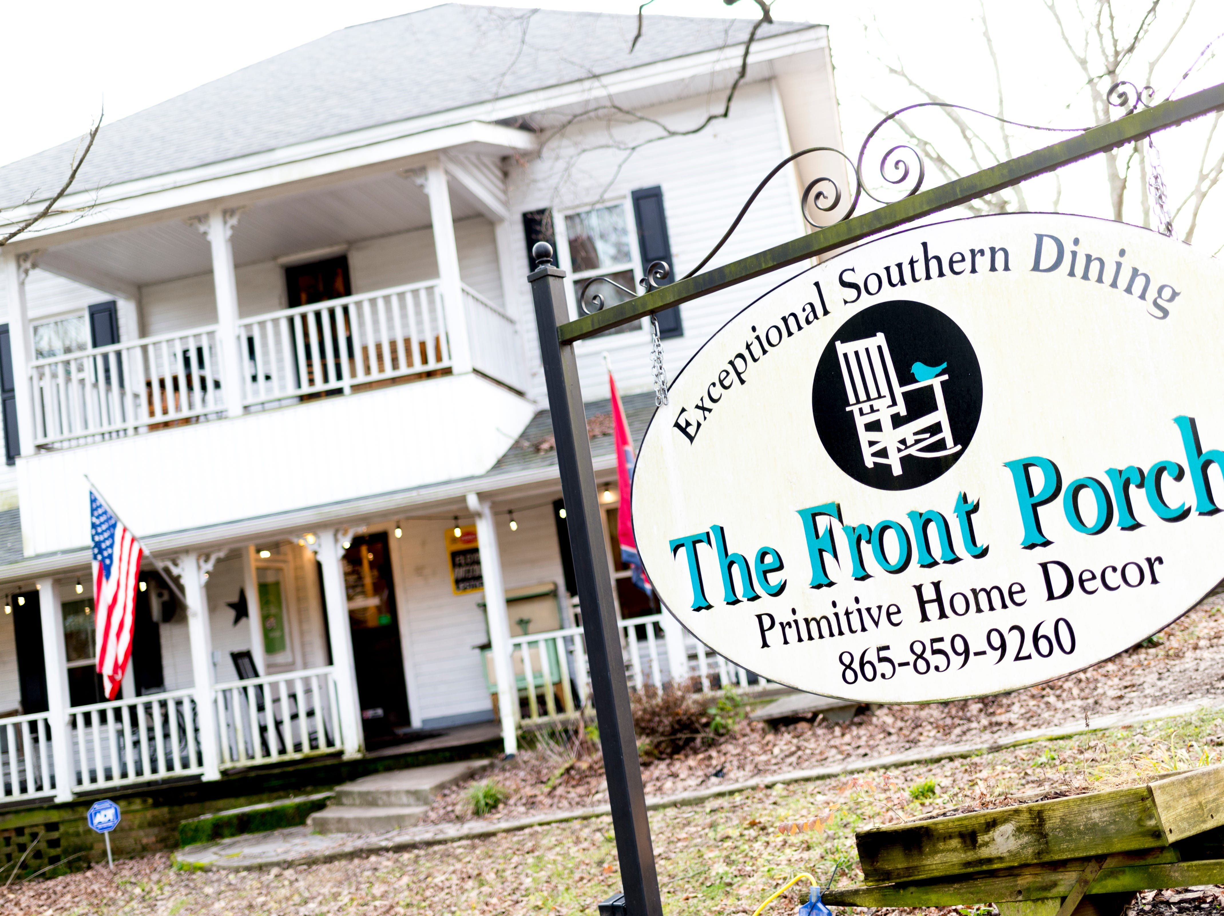 A street view of The Front Porch Restaurant in Powell, Tennessee on Saturday, December 29, 2018. For five years, owner Bart Elkins has worked to revive that experience of the front porch being used as the focus for family and friends.
