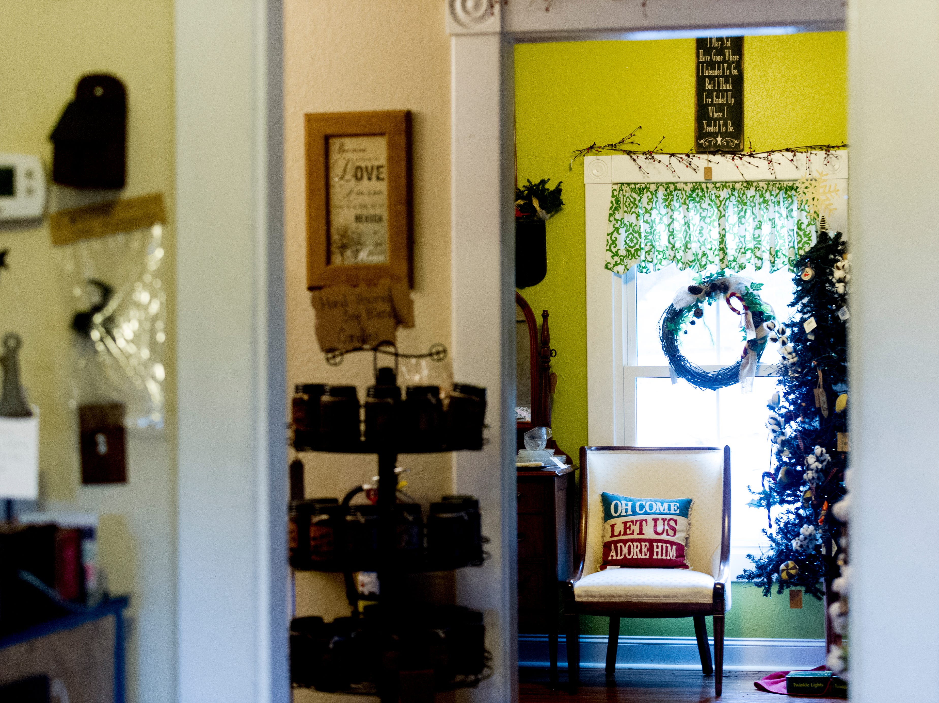 A view of the upstairs gift shop at The Front Porch Restaurant in Powell, Tennessee on Saturday, December 29, 2018. For five years, owner Bart Elkins has worked to revive that experience of the front porch being used as the focus for family and friends.
