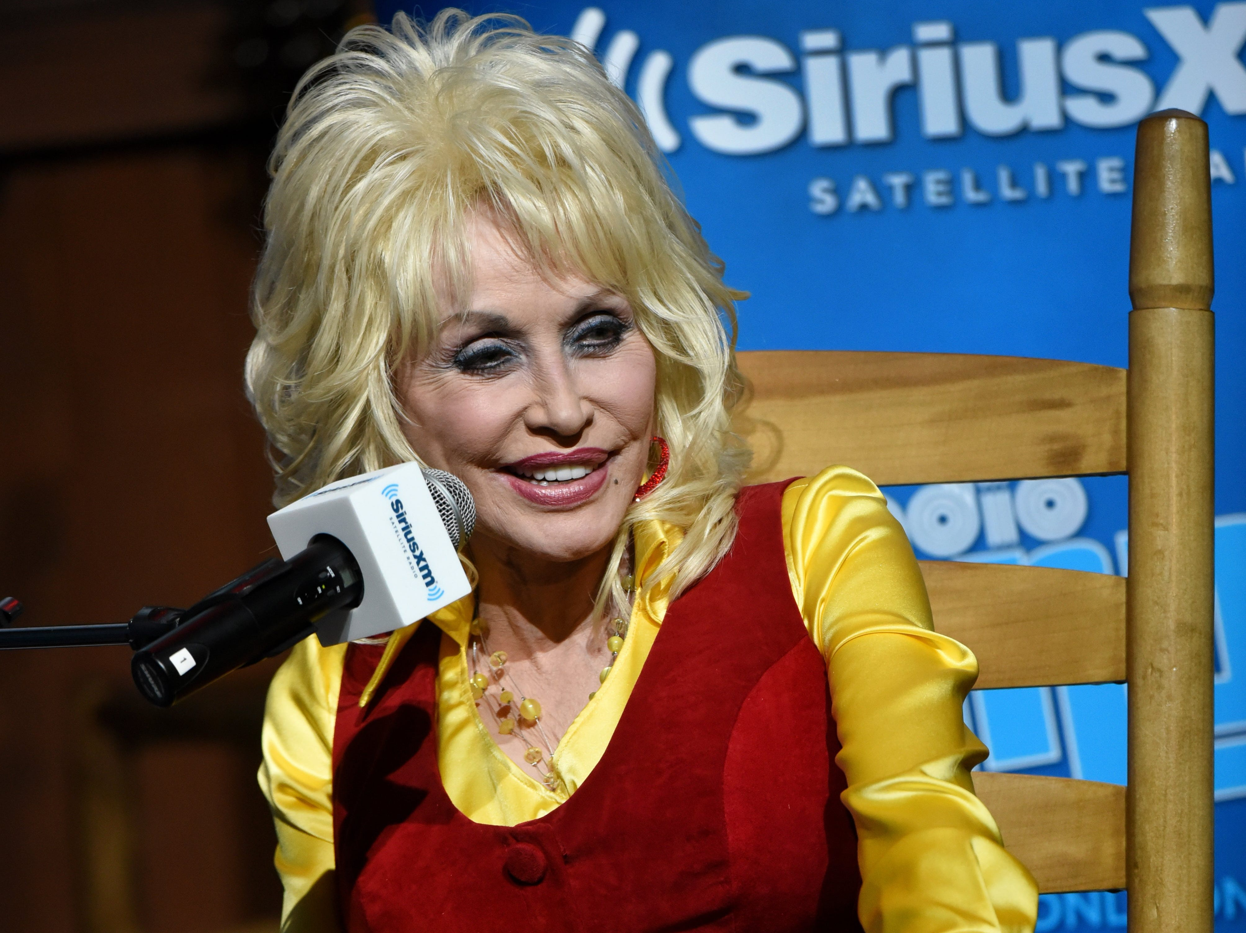 Dolly Parton during a live town hall radio chat with SiriusXM Radio host and TV producer Andy Cohen at Dollywood Friday, May 6, 2016. SiriusXM radio subscribers were allowed to submit questions to ask Parton and the winners traveled to the airing to ask their questions during the show.