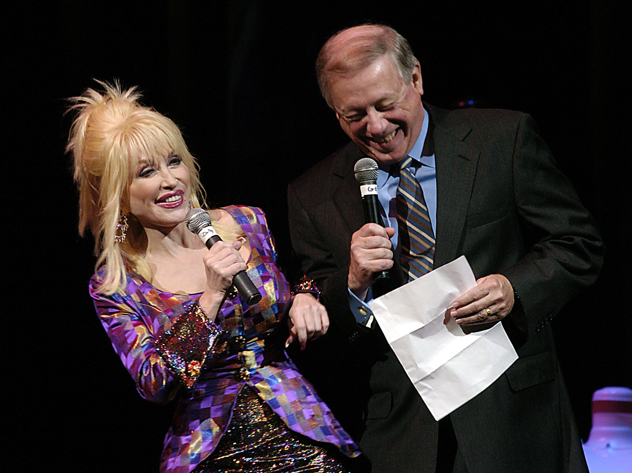 Dolly Parton embarrasses Gov. Phil Bredesen by saying she wanted to hip-bump him while they were on stage Friday at Dollywood. The Governor was at Dollywood for the introduction of Imagination Library a statewide preschool reading initiative he supports. 6/18/2004