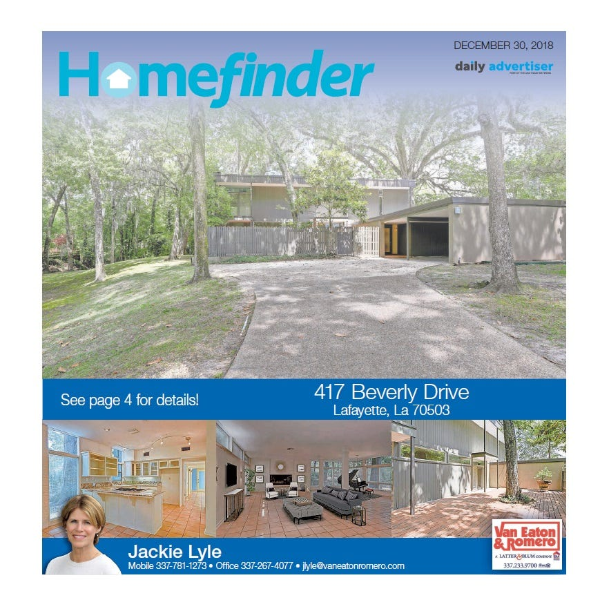 Homefinder: Dec. 30, 2018
