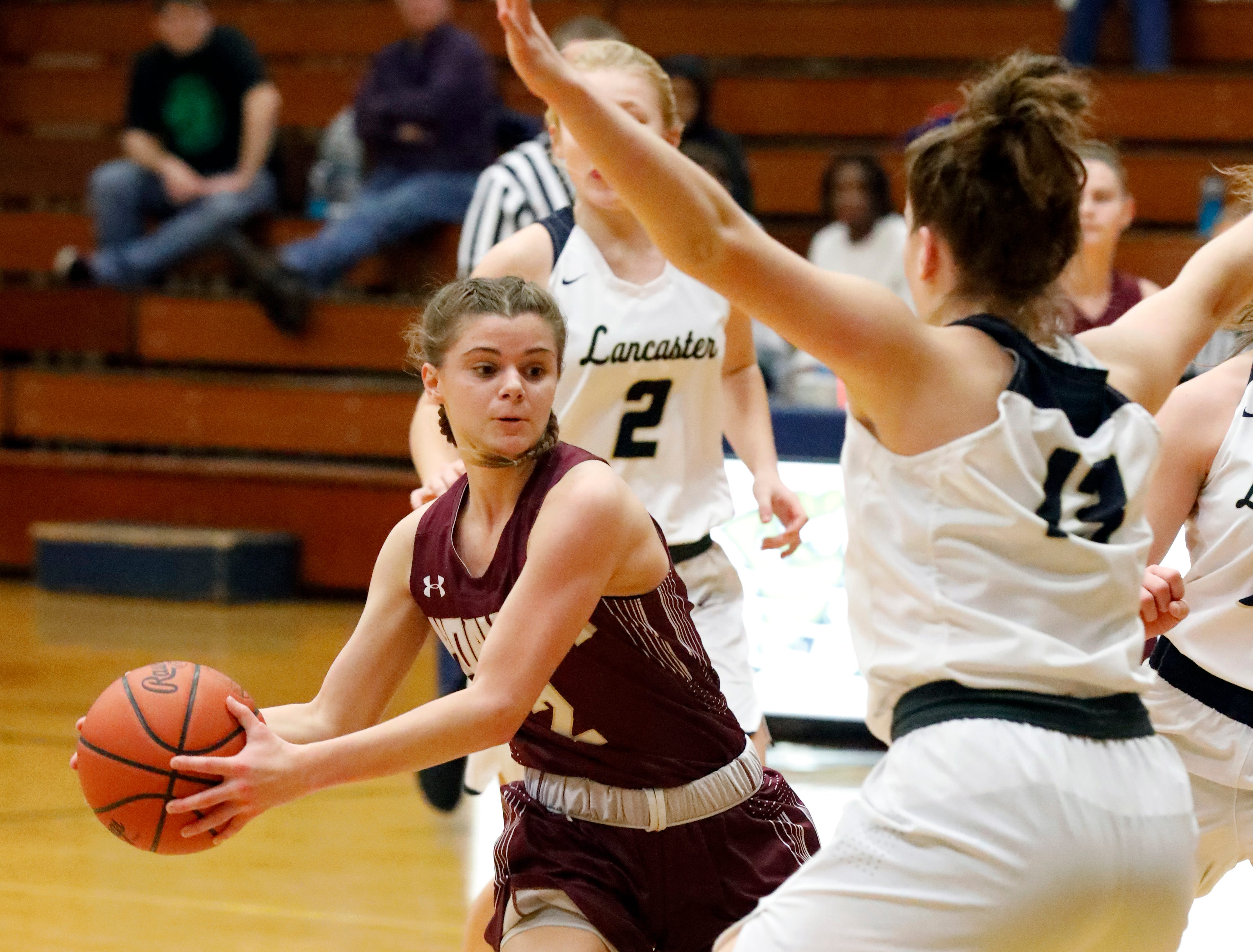 Lancaster defeated Licking Heights 43-37 Friday night, Dec. 28, 2018, at Lancaster High School in Lancaster.