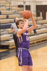 Brendan Young scored 28 points for Fowlerville in a victory over Durand in a district basketball opener.
