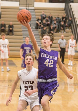 Fowlerville's Billy Hutchins nearly had a triple double in a victory over Eaton Rapids.