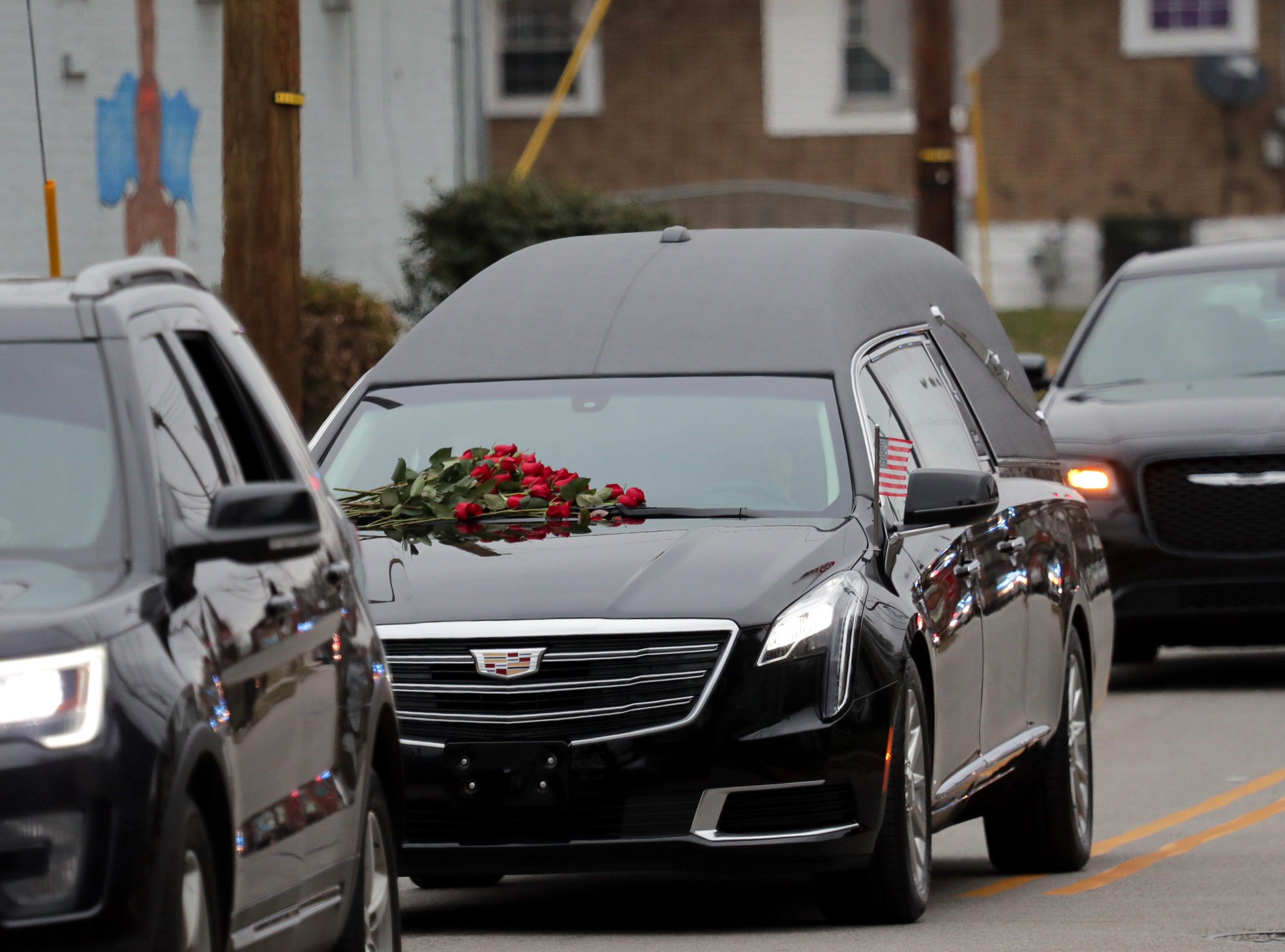 LMPD's Det. Deidre Mengedoht's procession turned off of Vermont and on to Louis C Coleman as it made it's way through the community she served. 