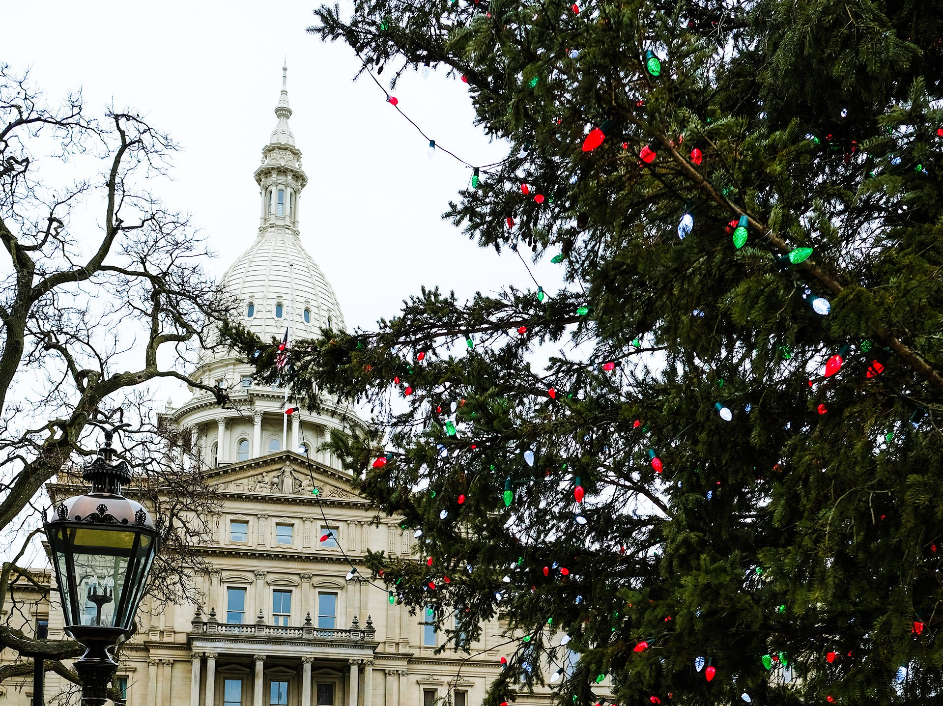 Work is well underway Saturday, Dec. 29, 2018 at the state Capitol to prepare for the inauguration of Michigan's Governor on January 1st.