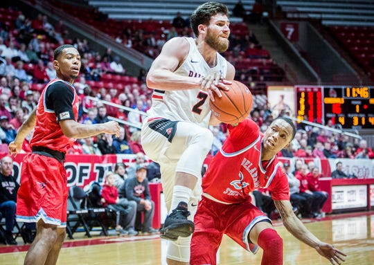 Ball State faces off against Delaware State during their game at Worthen Arena Saturday, Dec. 29, 2018.