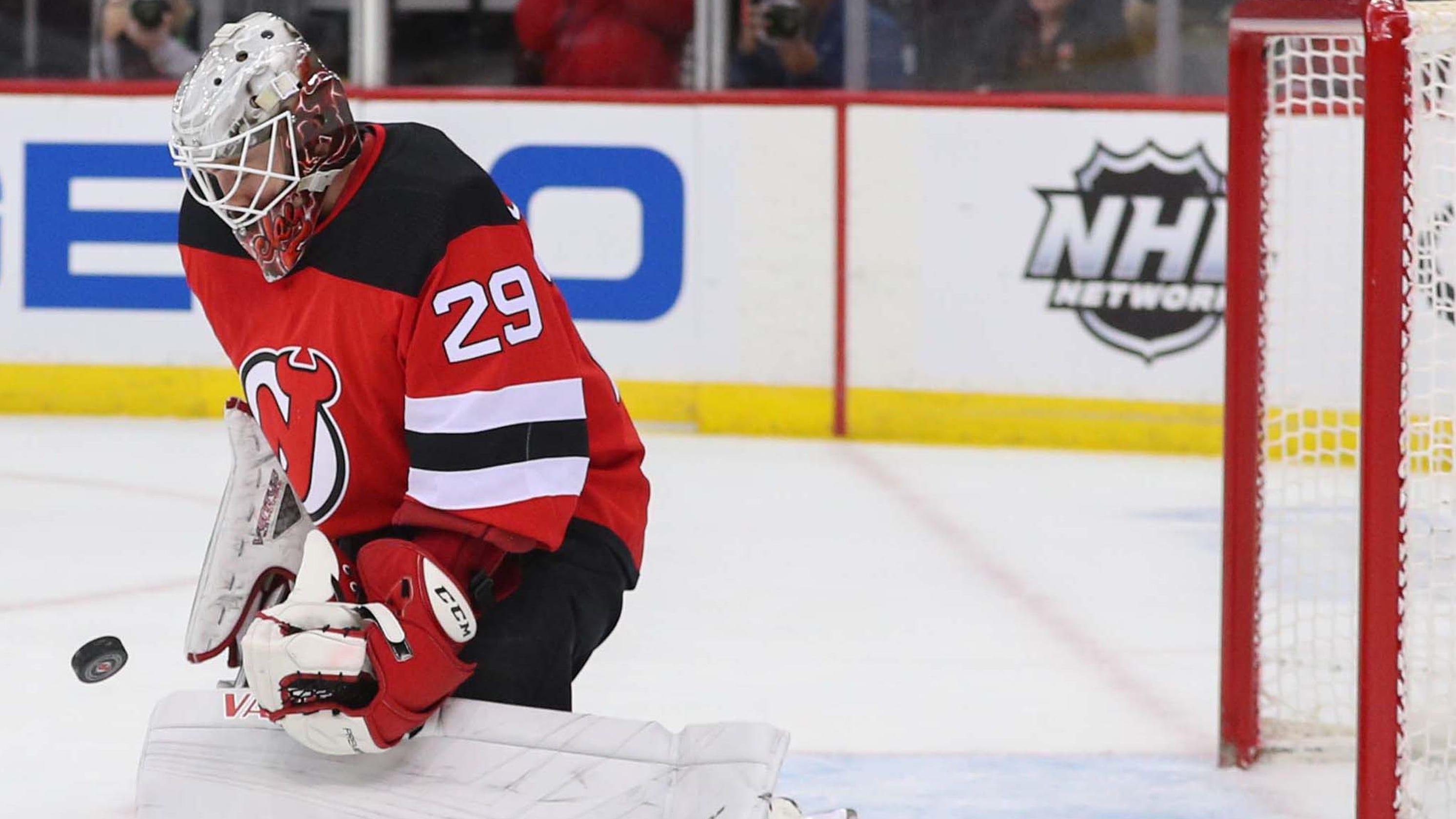 dddb52ea6 Mackenzie Blackwood earns 1st NHL shutout in NJ Devils  2-0 win over  Hurricanes
