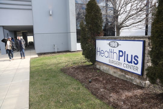 HealthPlus Surgery Center, on December 29, 2018, following a press conference to discuss what the center is doing to comply with NJ Department of Health regulations. The facility was closed by the NJ Department of Health recently for not complying with certain regulations.