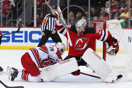 Nhl Carolina Hurricanes At New Jersey Devils