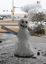 A Sonic Snowman at the Sonic at 101 Glacier Drive in Alamogordo.