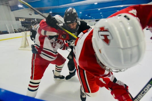 Plymouth vs Canton hockey