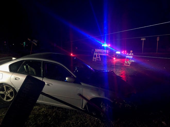 Cumberland Township police investigate a hit-and-run crash that occurred early morning on Saturday, December 29, 2018.